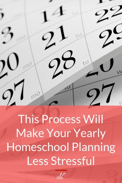 Learn a process that will make your yearly homeschool planning less stressful.